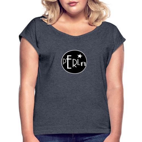 PERLA BAR - T-skjorte med rulleermer for kvinner