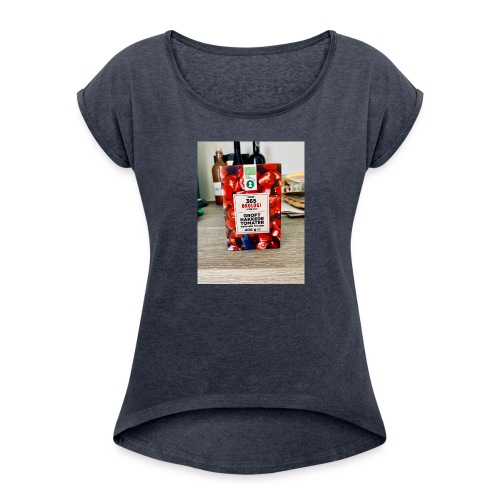 Tomato - Dame T-shirt med rulleærmer