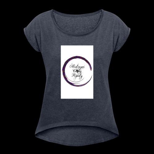 Własny Projekt - Koszulka damska z lekko podwiniętymi rękawami