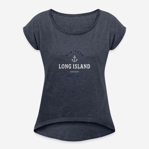 NEW YORK - LONG ISLAND - Maglietta da donna con risvolti