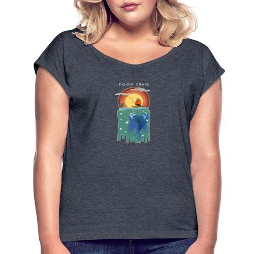 Food chain - T-shirt à manches retroussées Femme