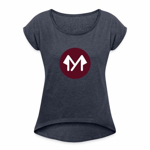 ARAMOODO LOGO - T-shirt à manches retroussées Femme