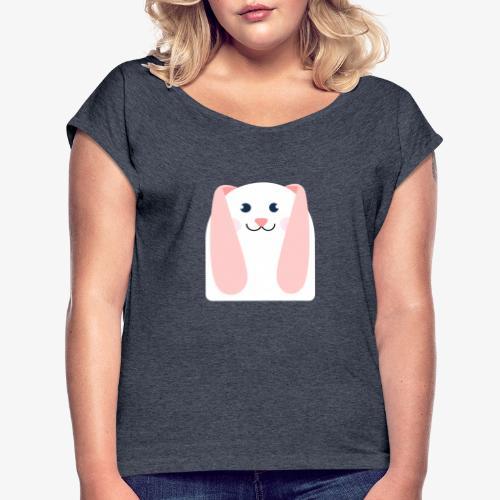 conejo kawaii - Camiseta con manga enrollada mujer