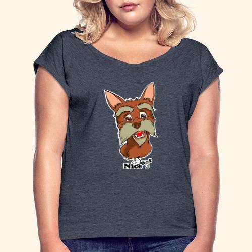 Nice Dogs schnauzer 2 - Maglietta da donna con risvolti