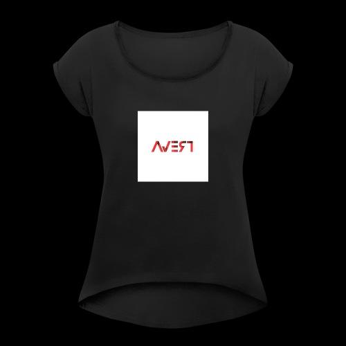 AVERT YOUR EYES - Vrouwen T-shirt met opgerolde mouwen