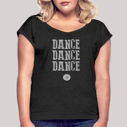 dancedancedance_grey - Maglietta da donna con risvolti