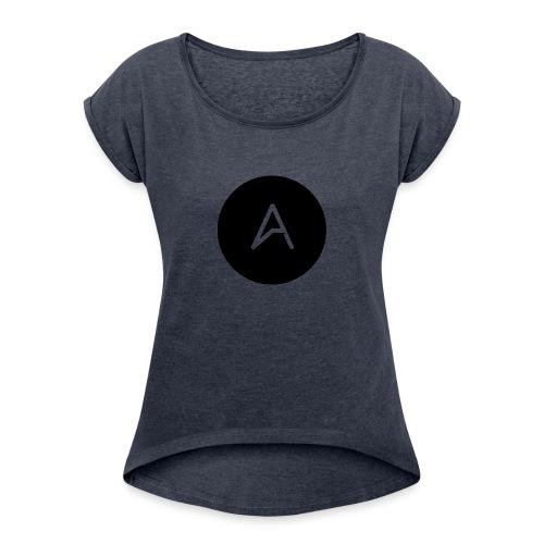 A MarkedMerke - T-skjorte med rulleermer for kvinner