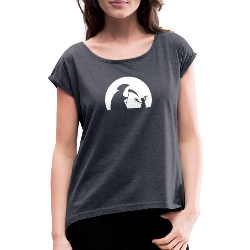 Hase Kaninchen Möhre Tod Sensenmann Karotte bunny - Frauen T-Shirt mit gerollten Ärmeln