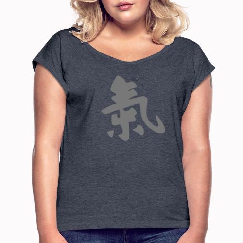 ki aikido - Maglietta da donna con risvolti