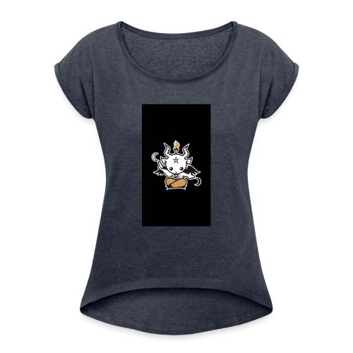 Baphomet - Frauen T-Shirt mit gerollten Ärmeln