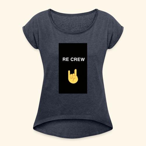 Re Crew T-shirt - Frauen T-Shirt mit gerollten Ärmeln