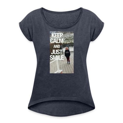 5faf3bf60da62ae7c0b5c60576ba7327 - Frauen T-Shirt mit gerollten Ärmeln