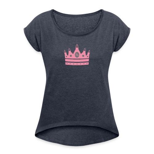 final2 png - Frauen T-Shirt mit gerollten Ärmeln