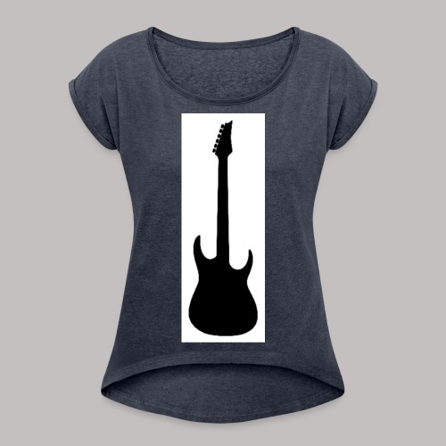 Guitar - Camiseta con manga enrollada mujer