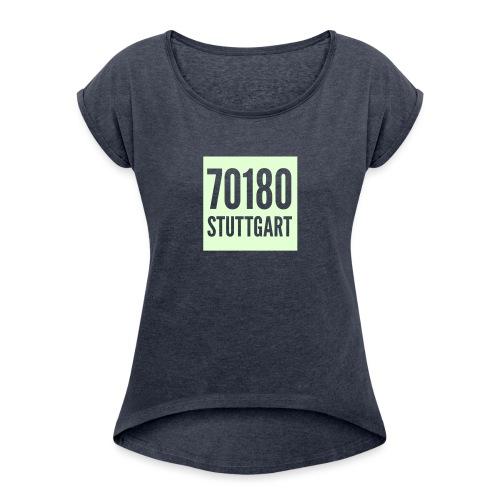 logo vektorisiert 1c - Frauen T-Shirt mit gerollten Ärmeln