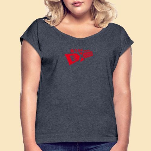 Excuses rot - Frauen T-Shirt mit gerollten Ärmeln