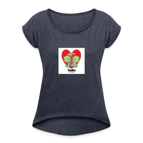 bhnvdloove-png - Camiseta con manga enrollada mujer