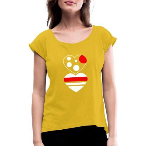 due cuori - Maglietta da donna con risvolti