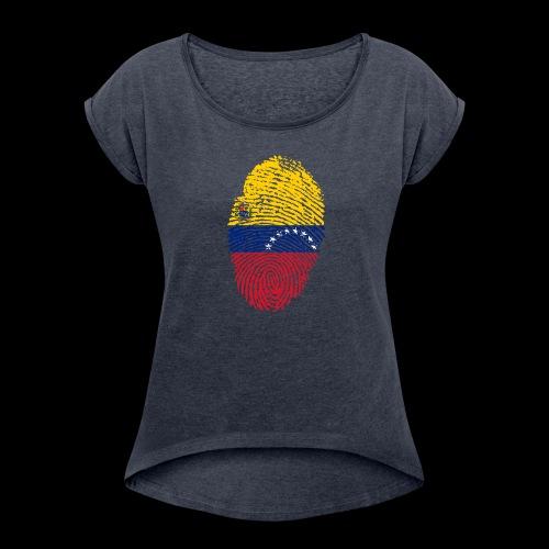 venezuela 653088 1920 - Camiseta con manga enrollada mujer