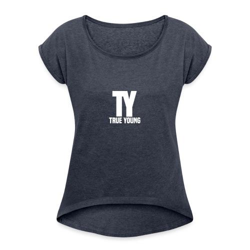 True Young Hoodie Black | Unisex - Vrouwen T-shirt met opgerolde mouwen