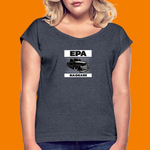 Epa-raggare - T-shirt med upprullade ärmar dam