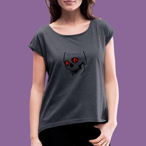 E J S E L L - T-shirt med upprullade ärmar dam