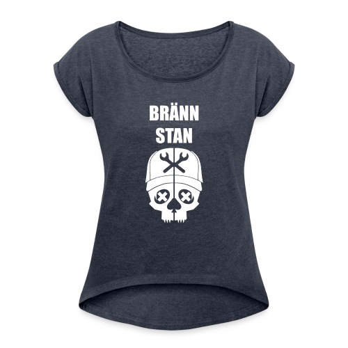 Bränn stan - T-shirt med upprullade ärmar dam