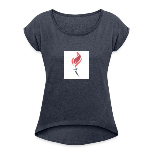 Torched Senkron - Women's T-Shirt with rolled up sleeves
