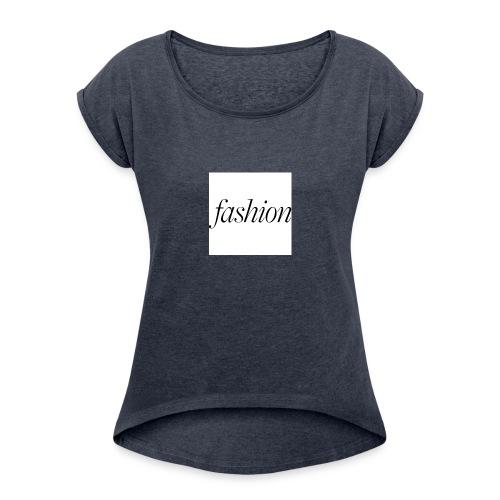 fashion - Vrouwen T-shirt met opgerolde mouwen