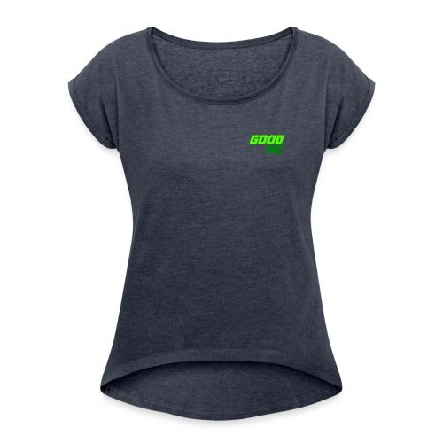 GoodMC Server merchandis - Vrouwen T-shirt met opgerolde mouwen