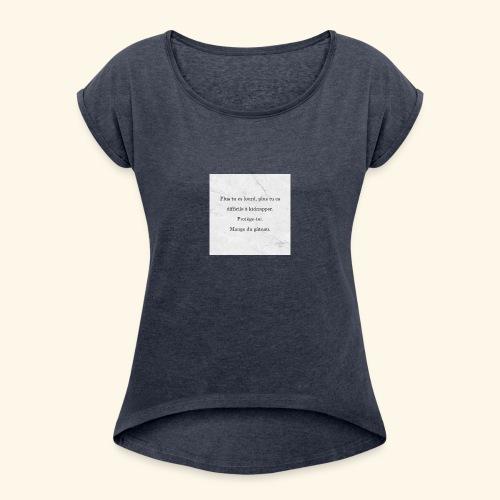 Gâteau - T-shirt à manches retroussées Femme