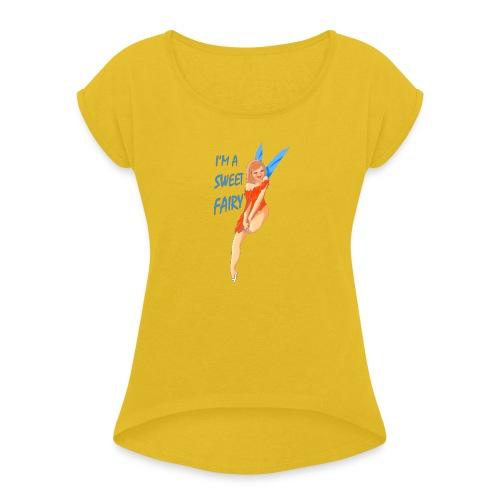 Sweet Fairy - Maglietta da donna con risvolti