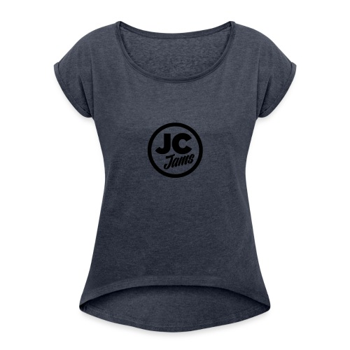 JC Jams logo USR - Women's T-Shirt with rolled up sleeves
