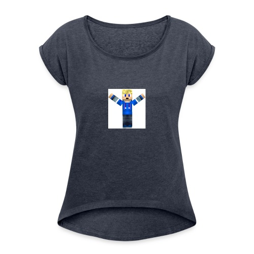Ozzians_skin_bild - T-shirt med upprullade ärmar dam