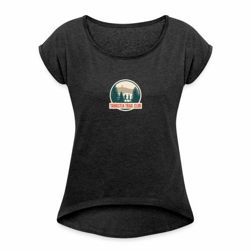 Tawastia Trail Logo - Naisten T-paita, jossa rullatut hihat