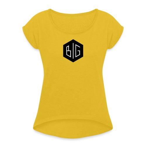 BiG logo grand svg - T-shirt à manches retroussées Femme