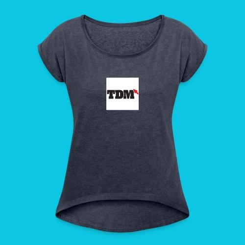 trui - Vrouwen T-shirt met opgerolde mouwen