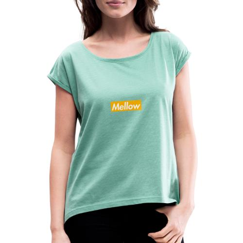 Mellow Orange - Women's T-Shirt with rolled up sleeves