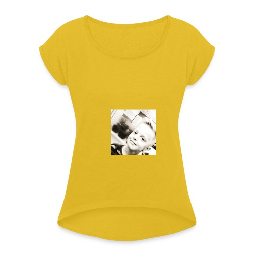 IMG 20180511 143458 276 - Frauen T-Shirt mit gerollten Ärmeln
