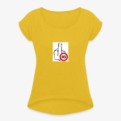 Doigt Coeur - T-shirt à manches retroussées Femme