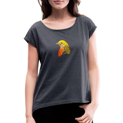 Yellow bird Amazon - Camiseta con manga enrollada mujer