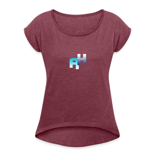 Logo-1 - Maglietta da donna con risvolti