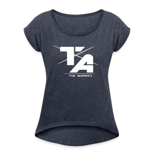 TA' Snapback Basic - T-shirt med upprullade ärmar dam