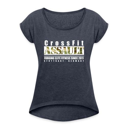 Ladies Lift Shirt - Frauen T-Shirt mit gerollten Ärmeln