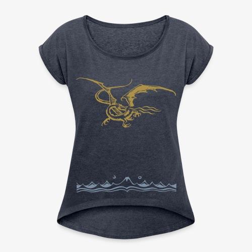 Mountains - Frauen T-Shirt mit gerollten Ärmeln
