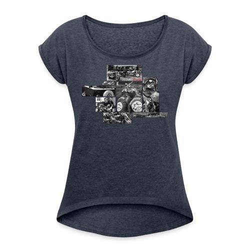 T Shirt 2311 png - T-shirt à manches retroussées Femme