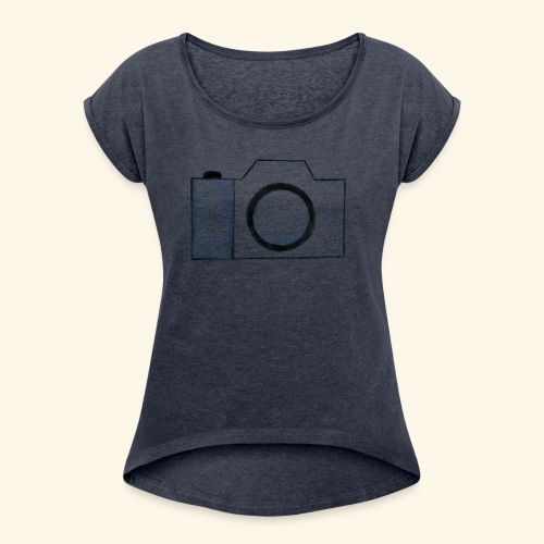 Camera - Women's T-Shirt with rolled up sleeves