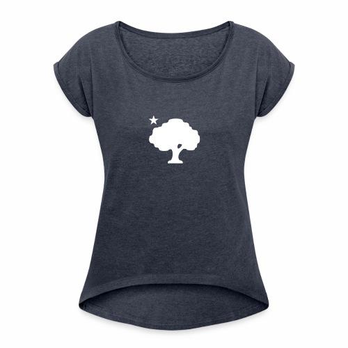 170217_Kpark_Baum_02-07_W - Frauen T-Shirt mit gerollten Ärmeln