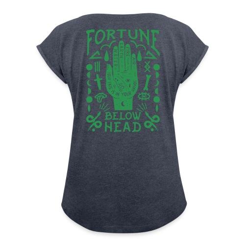 Voodoo green - Frauen T-Shirt mit gerollten Ärmeln