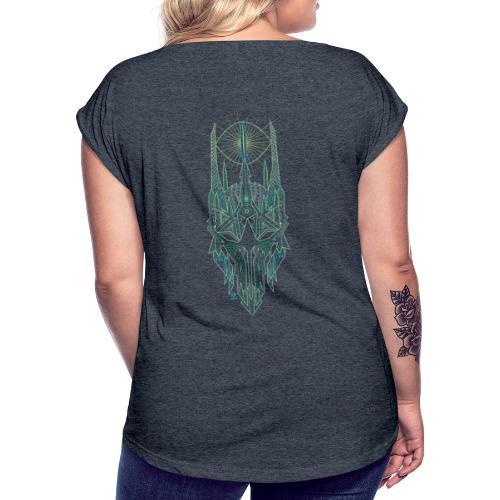 Sauron / Couleur - T-shirt à manches retroussées Femme